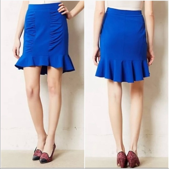 Anthropologie Dresses & Skirts - Anthropology HD In Paris Blue Skirt. Size 8